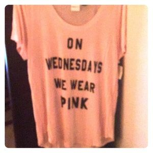 Mean girls PINK shirt brand new